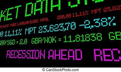 Recession ahead stock ticker