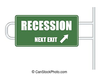 Recession - Rendered artwork with white background