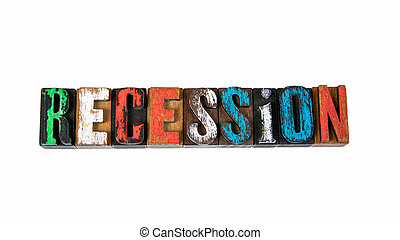 Recession. Economy, crisis, profits and growth concept