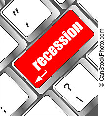 recession enter button on computer keyboard key