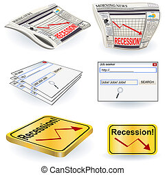 recession images - vector illustration of