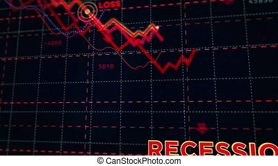 Recession stock markets down chart