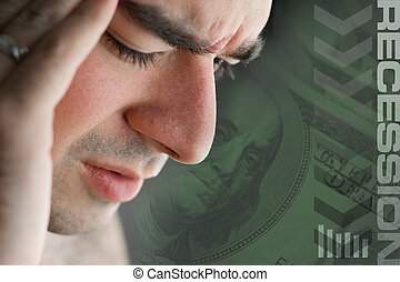 Recession Stress - This young man is experience intense...