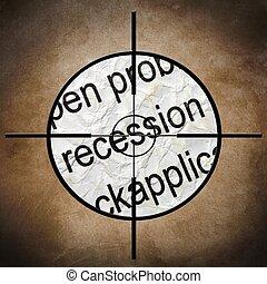 Recession target concept