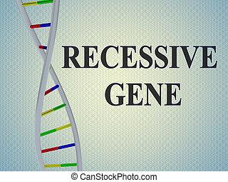 RECESSIVE GENE concept - 3D illustration of RECESSIVE GENE ...