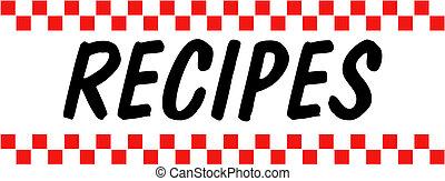 receta, cocina, hornada, retro, vendimia