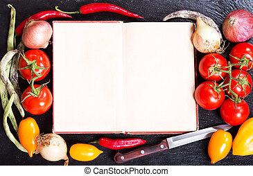copybook cuisine recette livre fond table ouvert ou image recherchez photos clipart. Black Bedroom Furniture Sets. Home Design Ideas