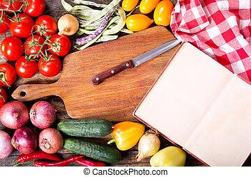 Copybook cuisine recette livre fond table ouvert ou for Vieux livre de cuisine