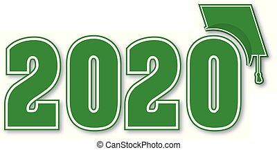 recevant diplôme classe, 2020, plafond vert