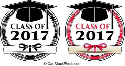 recevoir diplôme, 2017, classe