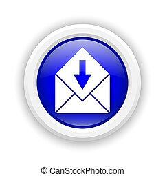 recevoir, e-mail, icône