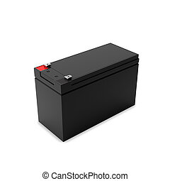 Rechargeable battery for uninterruptible power supply, 3D illustration.
