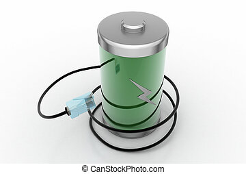 Rechargeable battery with cord wire