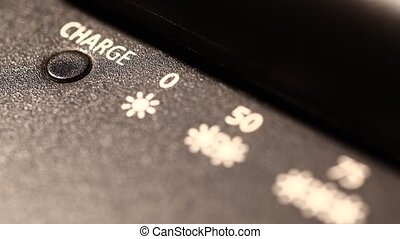 Rechargeable lithium-ion battery - Close up of rechargeable...