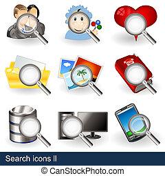 recherche, 2, icônes