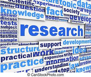 recherche, affiche, conception