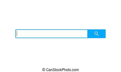 recherche, barre, élément, conception, recherche, boîte, blanc, fond, 3d, render