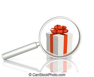 recherche, cadeau