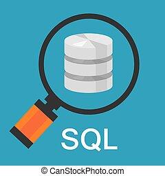 recherche, code, langue, base données, structuré, sql, question, données