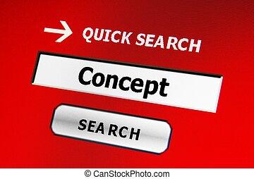recherche, concept