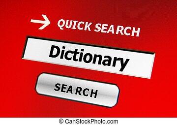 recherche, dictionnaire