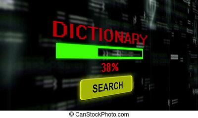 recherche, dictionnaire, ligne