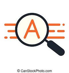 recherche, données, icône