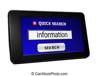 recherche enchaînement, information