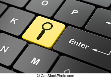 recherche enchaînement, informatique, conception, fond, clavier, concept: