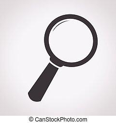 recherche, icône