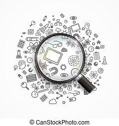 recherche, idées, créatif
