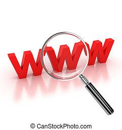 recherche internet, icône