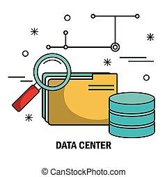recherche, isolé, serveur, fichier, données, archive