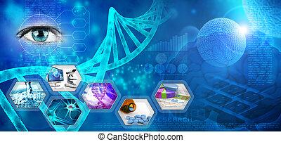 recherche, monde médical, pharmaceutique