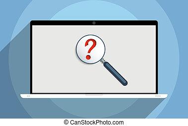 recherche, pour, information