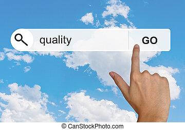 recherche, qualité, toolbar