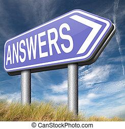 recherche, réponses