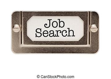 recherche travail, classer tiroir, étiquette