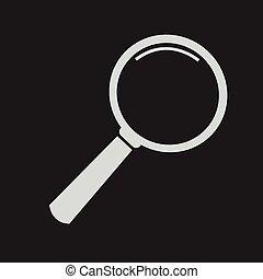 recherche, verre, verre, icône, magnifier, icône