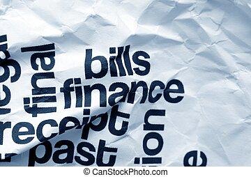rechnungen, finanz