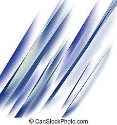 recht, blauwe lijnen, in, een, neerwaarts, hoek