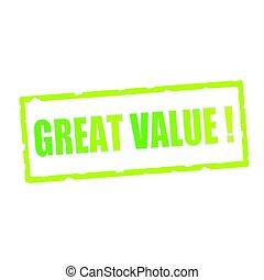 rechteckig, zeichen & schilder, wert, formulierung, groß, angeschlagen, grün