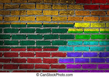 rechten, muur, litouwen, -, donker, lgbt, baksteen
