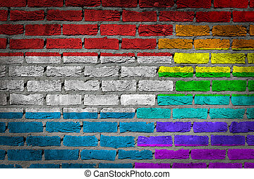 rechten, muur, -, luxembourg, donker, lgbt, baksteen