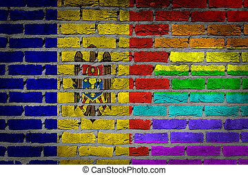 rechten, muur, -, moldavië, donker, lgbt, baksteen
