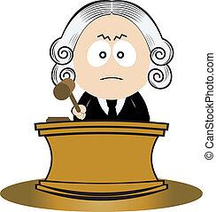 rechter, gebruik, zijn, gavel