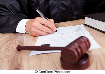 rechter, mannelijke , rechtszaal