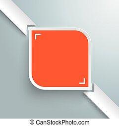 rechthoek, ronde, gekleurde, infographic