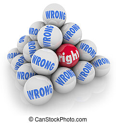 rechts, bal, keuze, tussen, fout, alternatieven, plukken,...