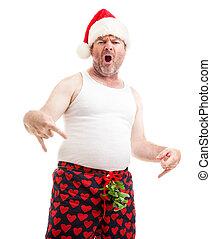 rechts, cadeau, hier, jouw, baby, gekregen, kerstmis